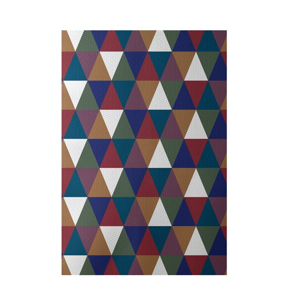 Geometric Brown Indoor/Outdoor Area Rug by e by design