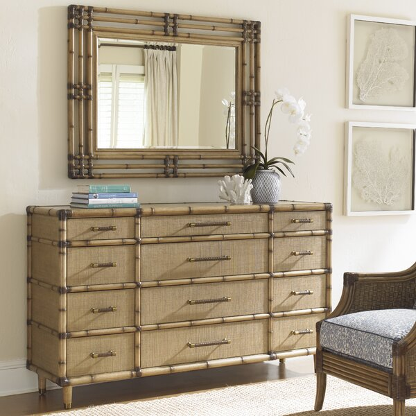 Twin Palms 12 Drawer Dresser with Mirror by Tommy Bahama Home