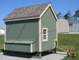 Dorothea Colonial Gable Chicken House with Ramp an