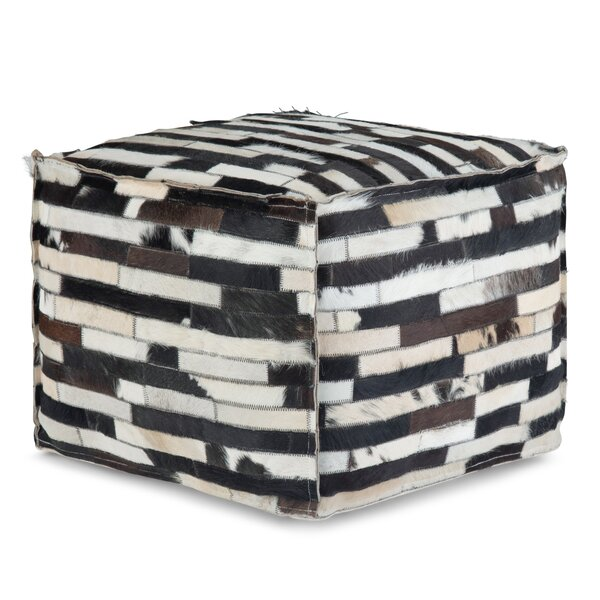 Richlands Leather Pouf By Union Rustic