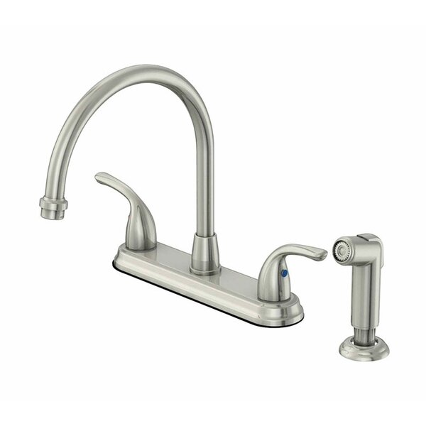 Touch Double Handle Kitchen Faucet with Side Sprayer