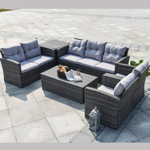 Tourmalet 6 Piece Sofa Seating Group with Cushions by Latitude Run