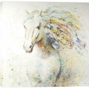 'Colorful Horse I' Painting on Wrapped Canvas by Darby Home Co