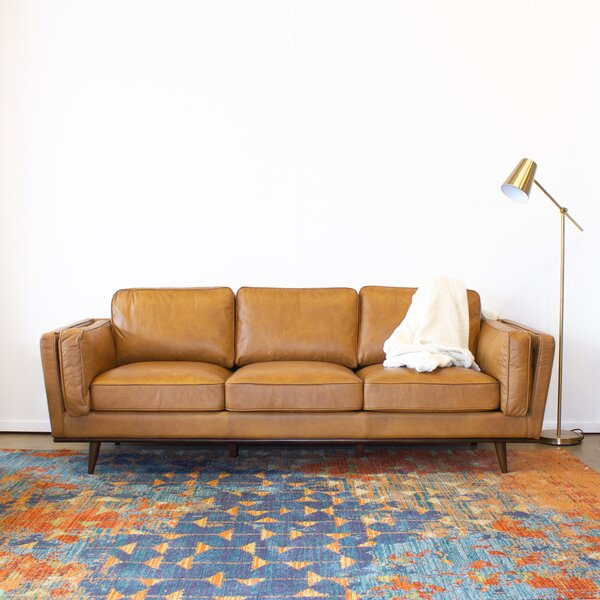 Lesa Leather Sofa by Corrigan Studio