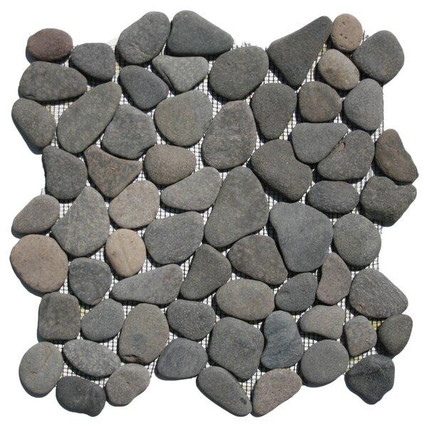 Banten Random Sized Natural Stone Mosaic Tile in Island Gray