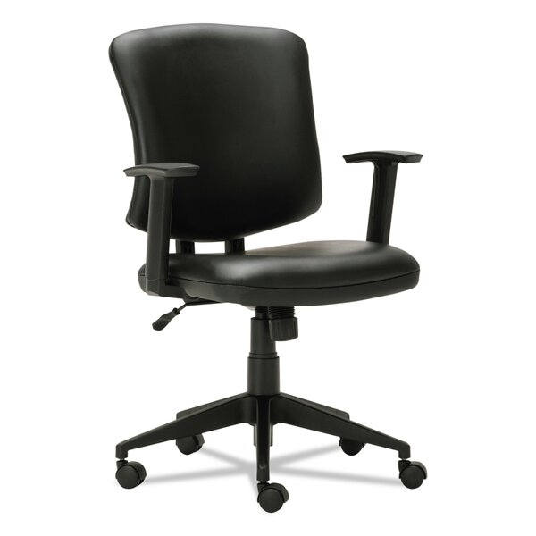 Arely Ergonomic Genuine Leather Office Chair by Symple Stuff