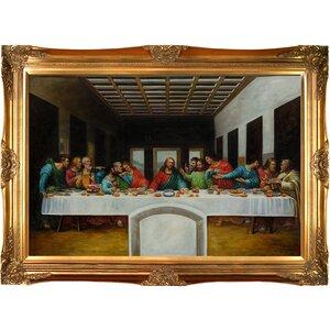 'The Last Supper' by Leonardo Da Vinci Framed Painting Print by Astoria Grand