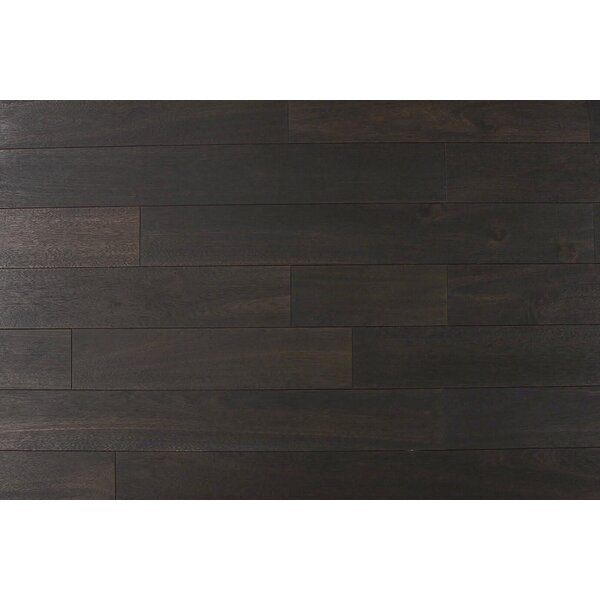 Norwood 4-3/4 Solid Acacia Hardwood Flooring in Simply Black by Albero Valley