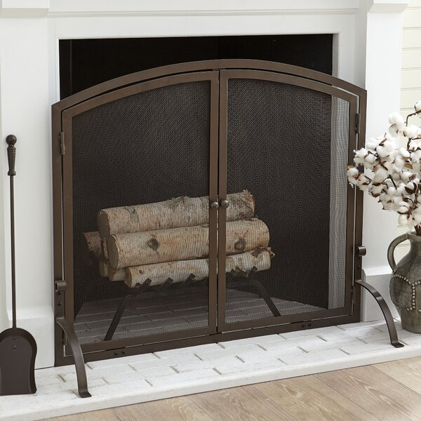 Scriven Single Panel Steel Fireplace Screen by Charlton Home