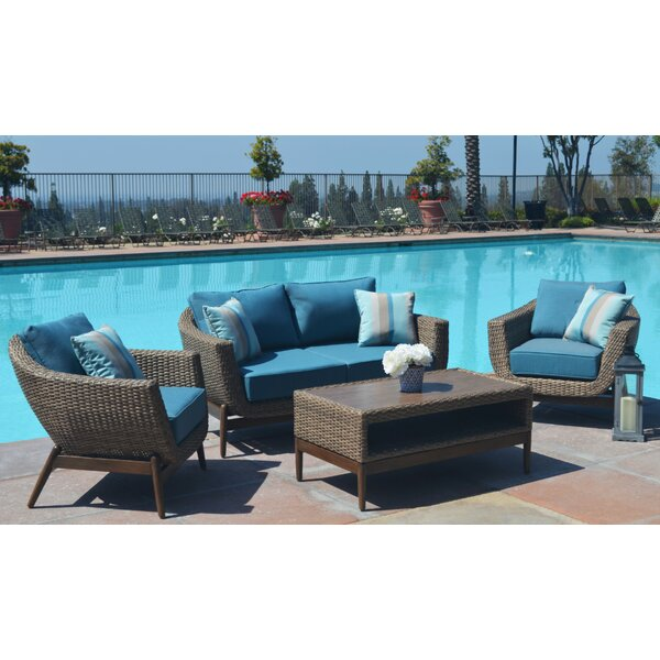 Bilski 4 Piece Sofa Seating Group With Sunbrella Cushions By Brayden Studio