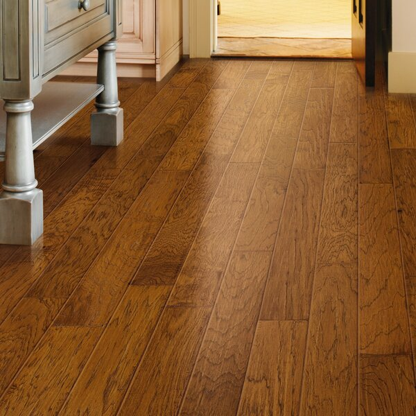 Revolutions 5'' x 51'' x 8mm Louisville Hickory Laminate Flooring in Butterscotch by Mannington