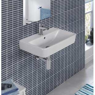 Buy luxury Comprimo Ceramic 22 Wall Mount Bathroom Sink with Overflow By Bissonnet