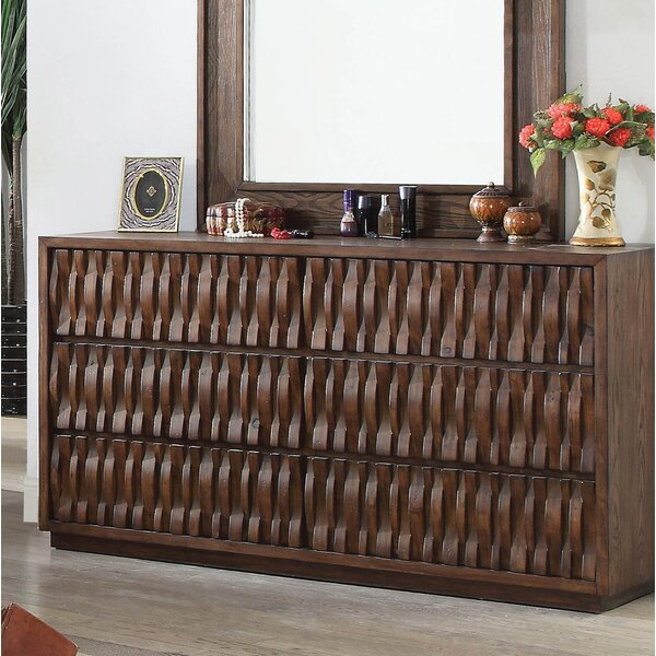New Pinnix 6 Drawer Double Dresser By Bloomsbury Market Coupon
