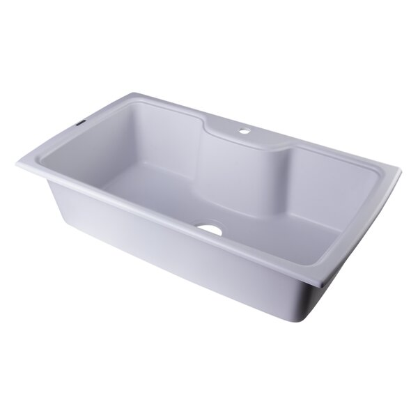 34.63 L x 19.69 W Drop-In Single Bowl Kitchen Sink by Alfi Brand