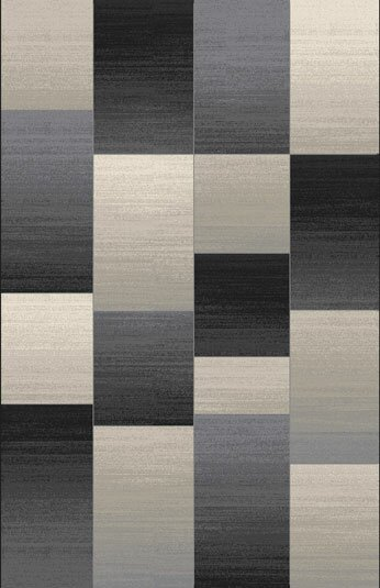 Doully Black Area Rug by 17 Stories
