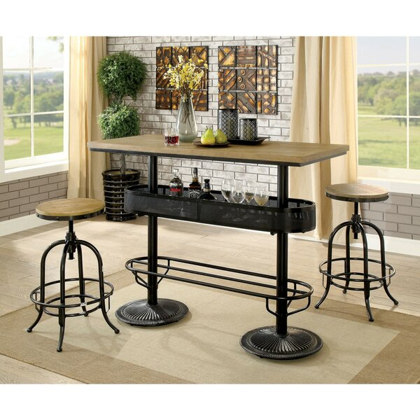 Julianna Metal 3 Piece Pub Table Set by 17 Stories