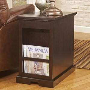 Suffield End Table With Storage� by Three Posts