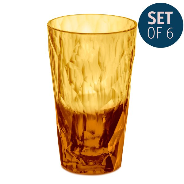 Dollard 10 oz. Glass Every Day Glasses (Set of 6) by Ivy Bronx