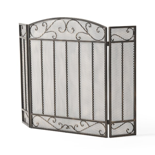 Clay 3 Panel Iron Fireplace Screen By Home Loft Concepts