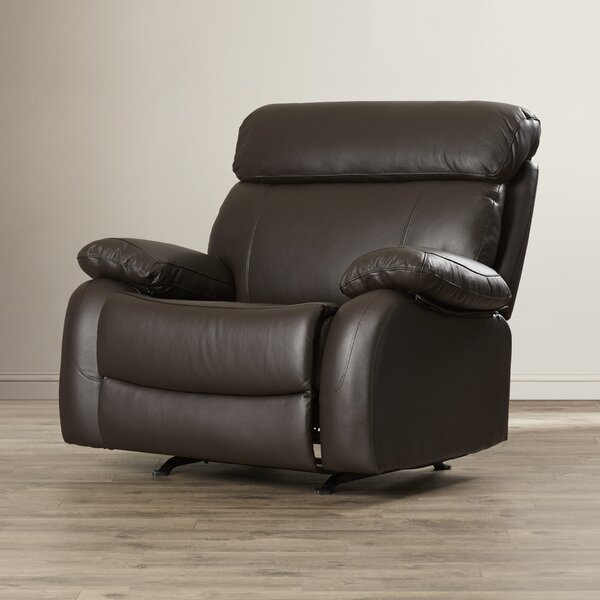 Lavallie Leather Manual Glider Recliner
