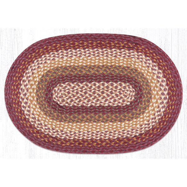 Oval Braided Ivory Area Rug by Earth Rugs