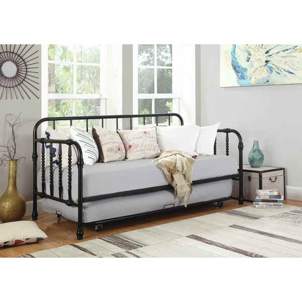 Home & Outdoor Hillsborough Twin Metal Daybed With Trundle