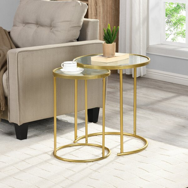 Betances Glass Top Frame Nesting Tables By Mercer41