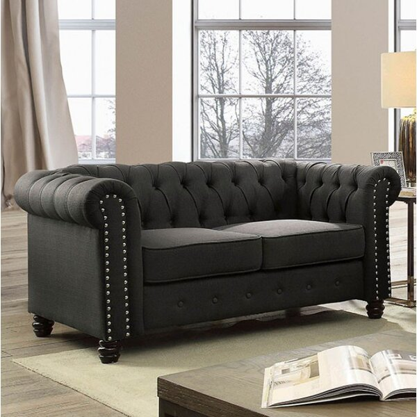 Joice Chesterfield Loveseat by Darby Home Co