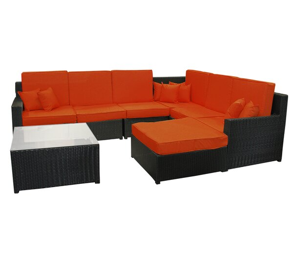 8 Piece Rattan Sectional Set with Cushions by Northlight Seasonal