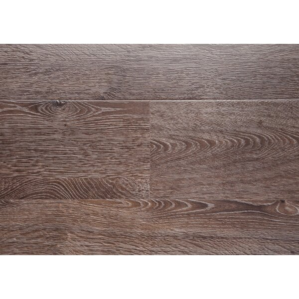 Driftwood 7.5 x 48 x 12mm Oak Laminate Flooring in Brown with Moisture Resistant Wax by Chic Rugz