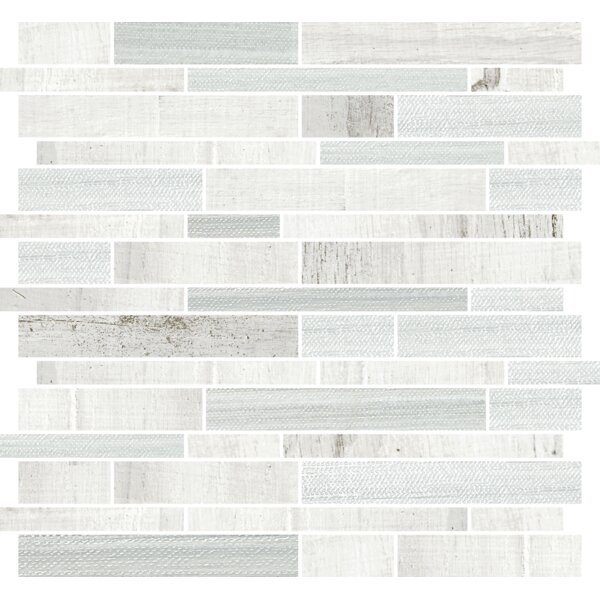Docklight 12 x 12 Porcelain Mosaic Tile in Wavecrest by Parvatile