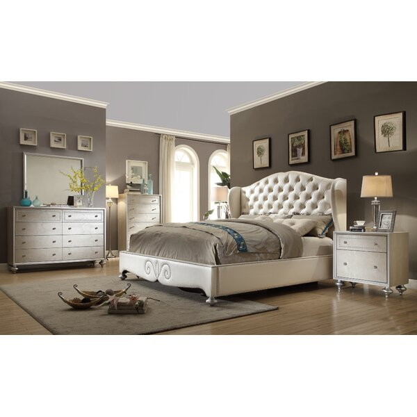 Aveliss Queen Panel 4 Piece Bedroom Set by Rosdorf Park