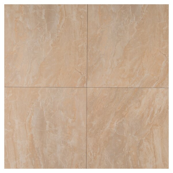 Pietra Onyx 24 x 24  Porcelain Field Tile in Beige by MSI