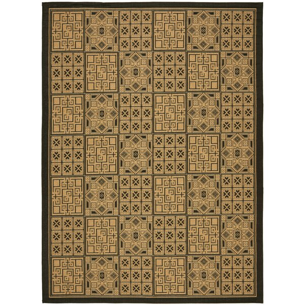 Short Light Brown/Black Outdoor Rug by Winston Porter