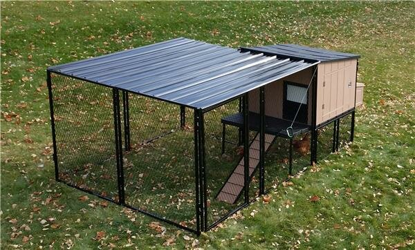 Urban Coop with Chicken Run by K9 Kennel