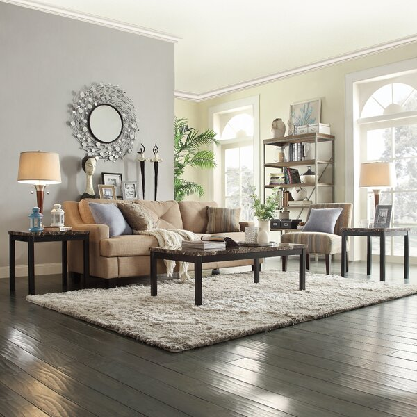 Roman Three Piece Coffee Table Set by Kingstown Home Kingstown Home