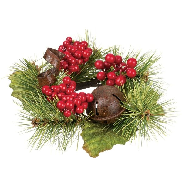 5 Pine, Bell and Berry Wreath (Set of 6) by The Holiday Aisle