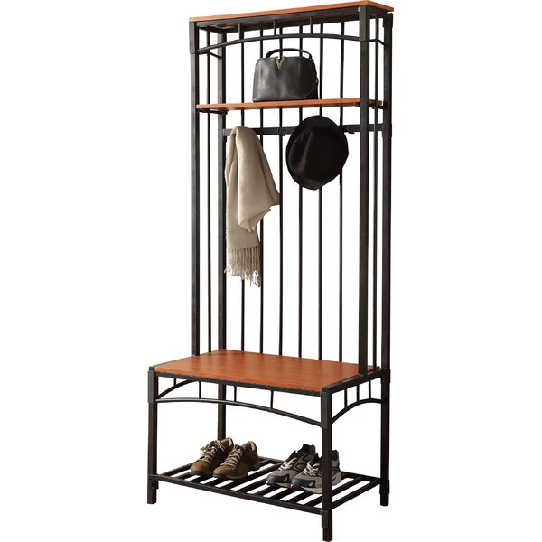 Rossiter Entryway Hall Tree with Bench and Shoe Storage