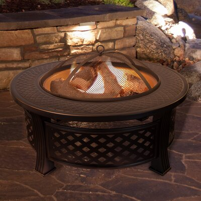 Outdoor Fireplaces & Fire Pits You'll Love in 2020 | Wayfair on Quillen Steel Wood Burning Outdoor Fireplace id=60389