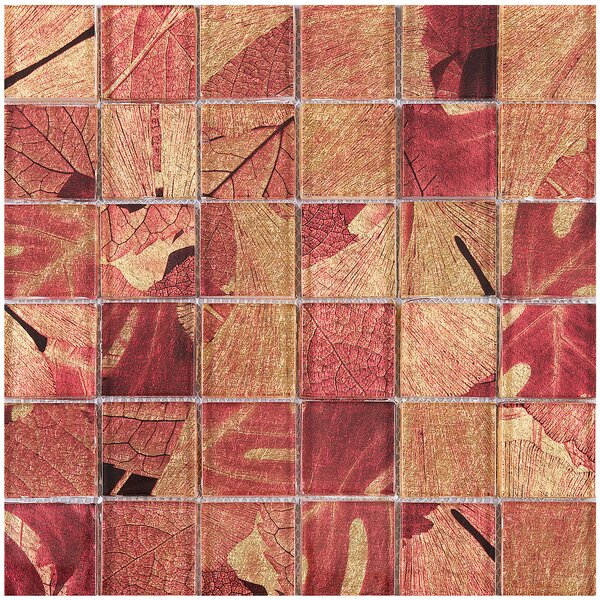 Season Series Summer 2 x 2 Glass Mosaic Tile in Red by Multile