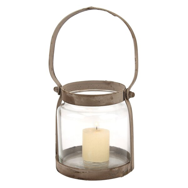 Donna Metal/Glass Lantern by Gracie Oaks