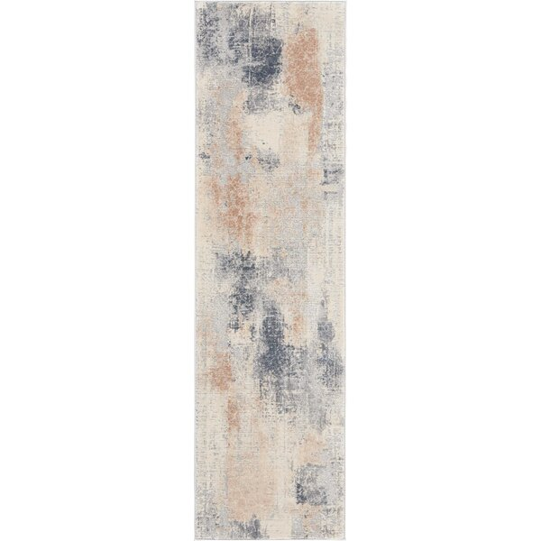 Comer Abstract Beige/Gray Area Rug by Williston Forge