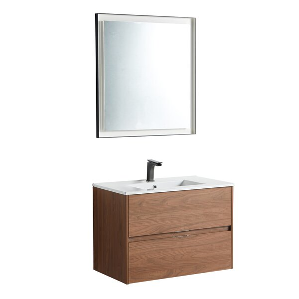Riverton 29 Wall-Mounted Single Bathroom Vanity Set with Mirror