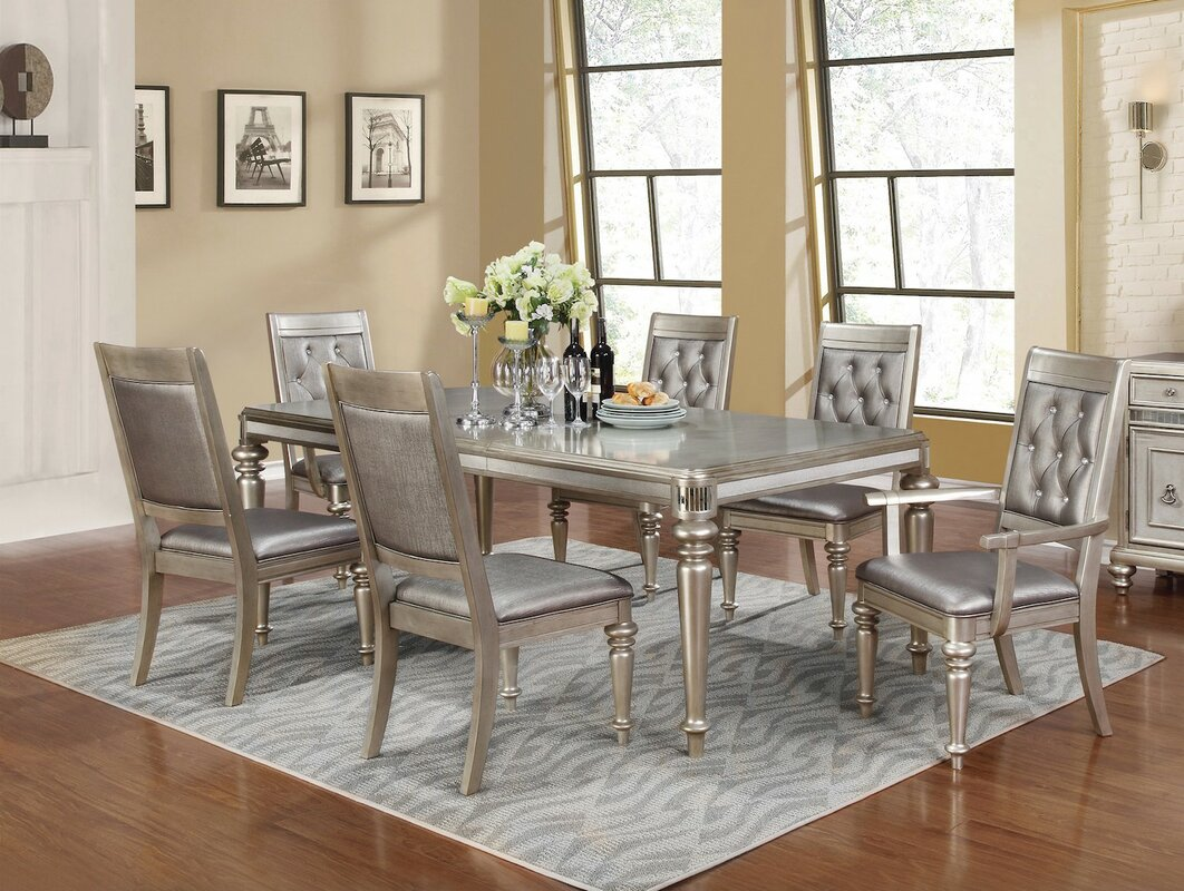 Infini furnishings victoria 7 piece dining set reviews for Dining room tables victoria