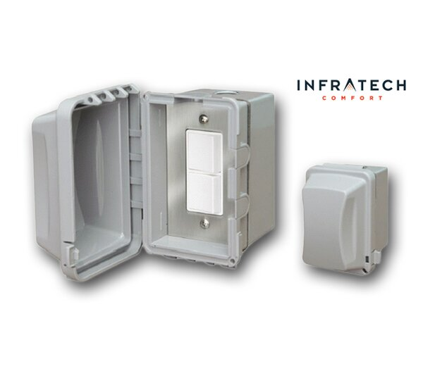 Surface Mount Waterproof Duplex Switch by Infratech