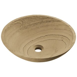 Price comparison Stone Circular Vessel Bathroom Sink By MR Direct