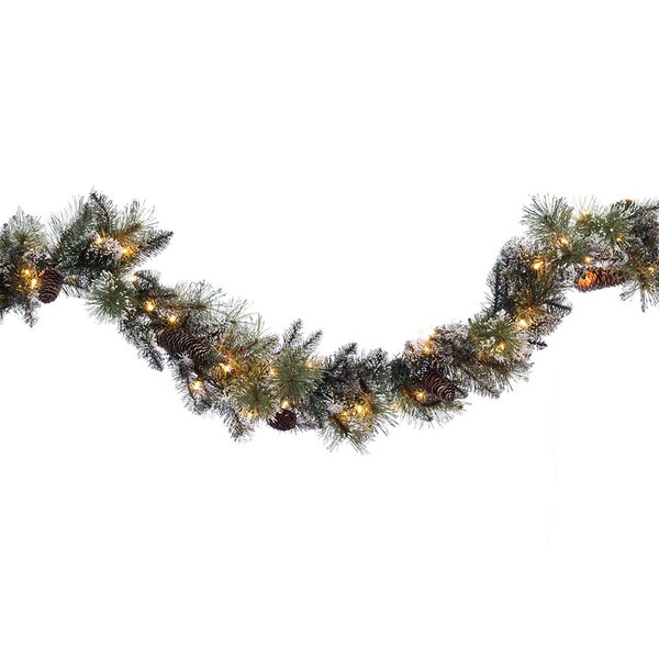 Pre-lit Glitter Garland by The Holiday Aisle
