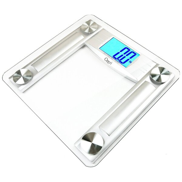 ProMax 560 lbs / 255 kg Bath Scale, with 0.1 lbs / 0.05 kg Sensor Technology, and Body Tape Measure & Fat Caliper by Ozeri