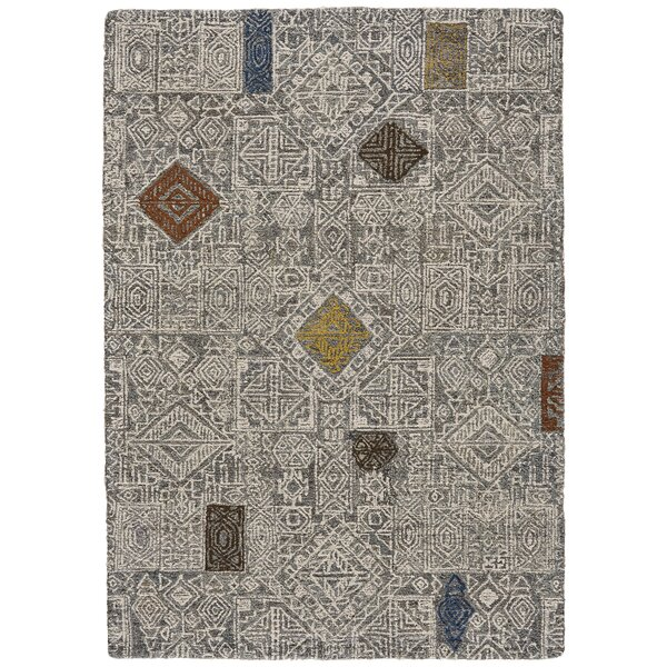 Reger Hand-Tufted Wool Ivory Area Rug by Bloomsbury Market