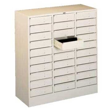 30 Drawer Organizer Filing Cabinet by Tennsco Corp.